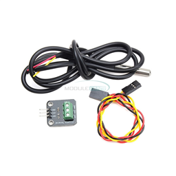 DS18B20 Temperature Sensor Module with Waterproof 100CM Cabled Stainless Steel Probe