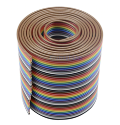 1M/3.3ft 40-Way Flat Color Rainbow Ribbon Jumper Wire